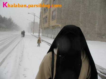 مادر محمد امین، محمد امین و خیابان برفی