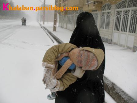 مادر، محمد امین و برف و سرما